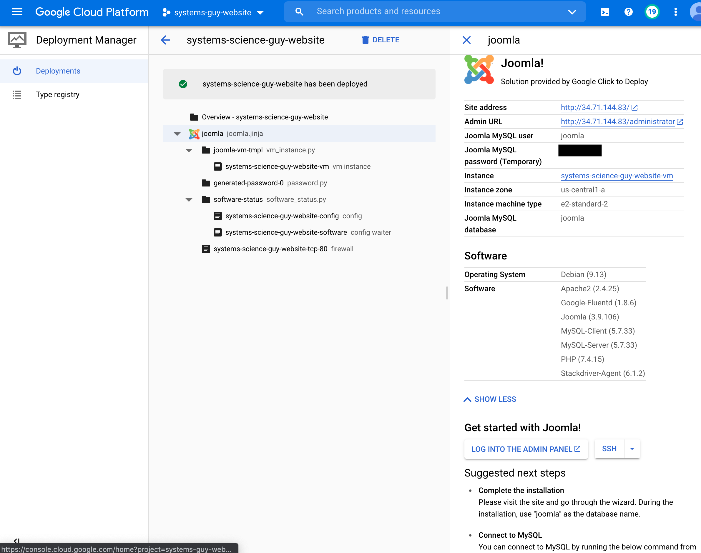 GCP Deployment Manager